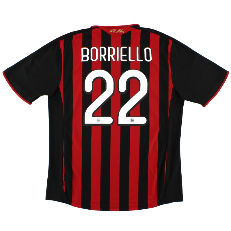 2009-10 AC Milan Home Shirt Borriello #22 XL - E84210