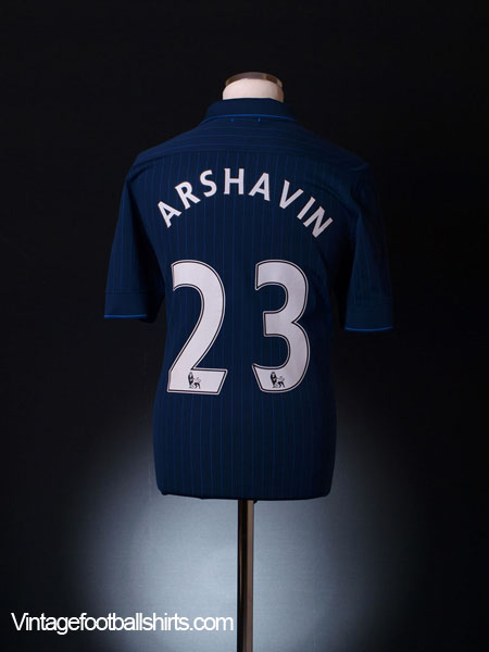 2009-10 Arsenal Away Shirt Arshavin #23 *Mint* L