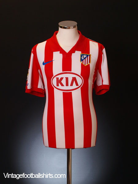 on sale af19d ab220 2009-10 Atletico Madrid Home Shirt Aguero #10 *Mint* L for sale
