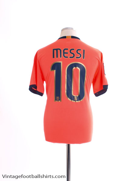 2009-10 Barcelona Away Shirt Messi #10 *Mint* S