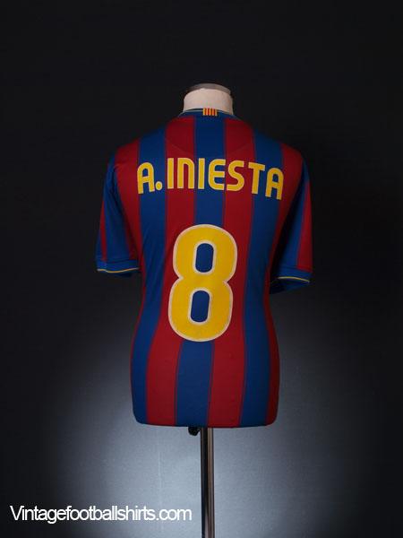 2009-10 Barcelona Home Shirt A.Iniesta #8 XL