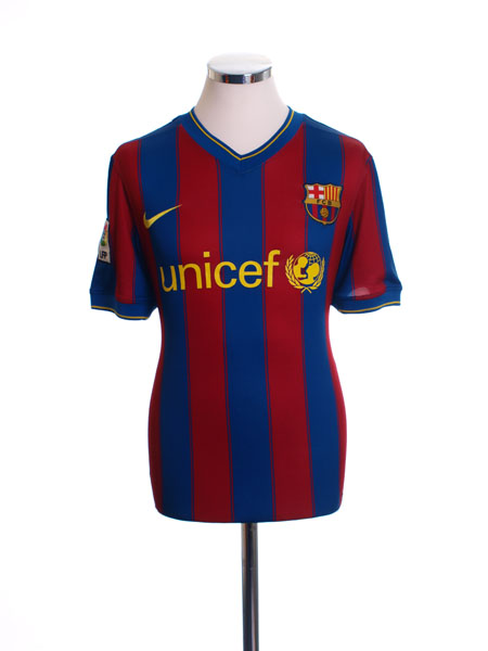 2009-10 Barcelona Home Shirt L.Boys