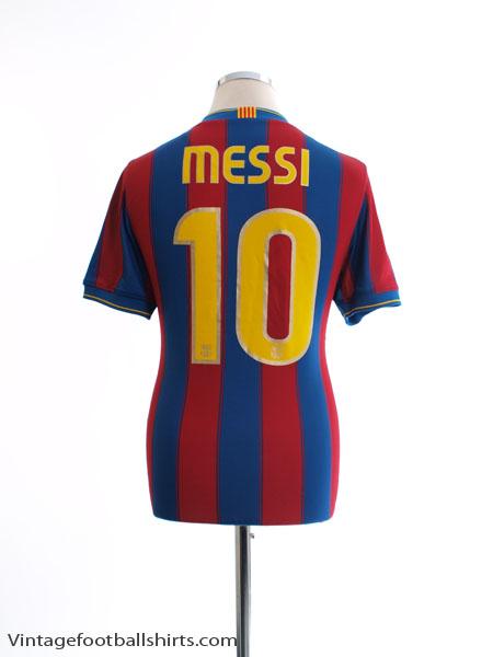 2009-10 Barcelona Home Shirt Messi #10 S - 343808-496