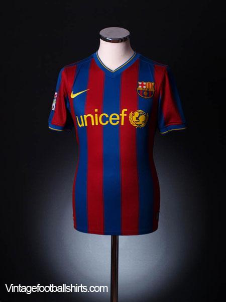 2009-10 Barcelona Home Shirt L