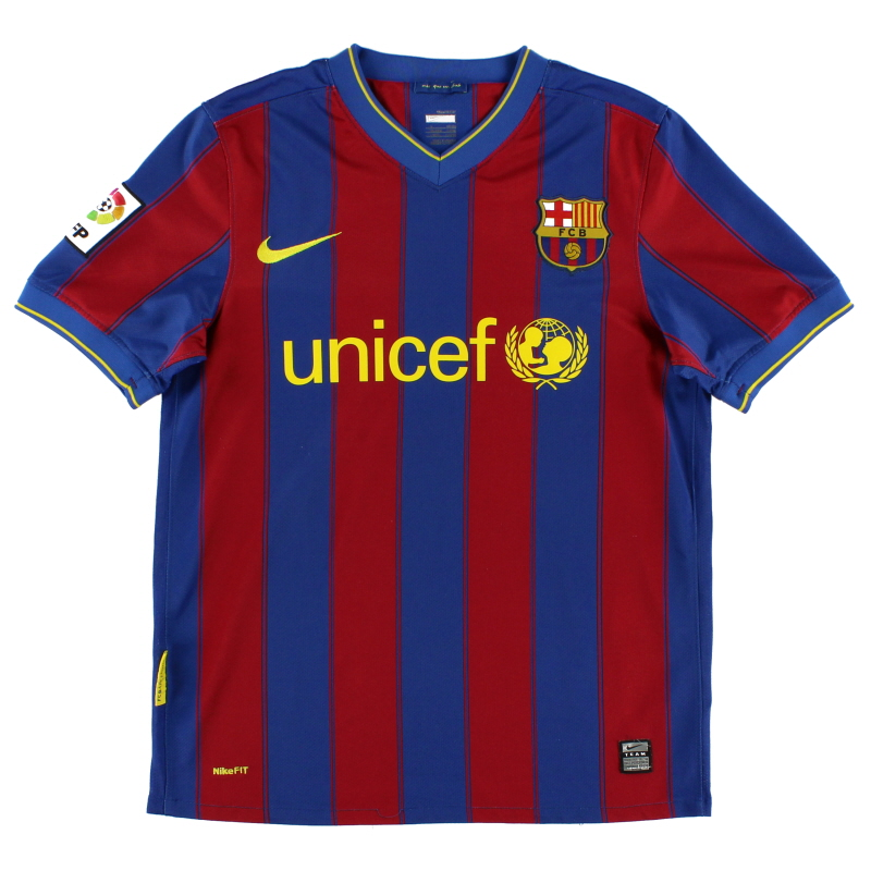2009-10 Barcelona Home Shirt L.Boys - 343816-496