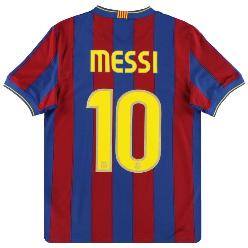 2009-10 Barcelona Nike Home Shirt Messi #10 S - 343808-496