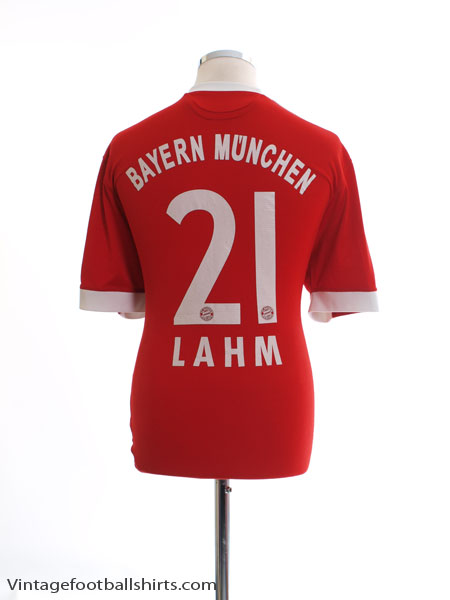 2009-10 Bayern Munich Home Shirt Lahm #21 L