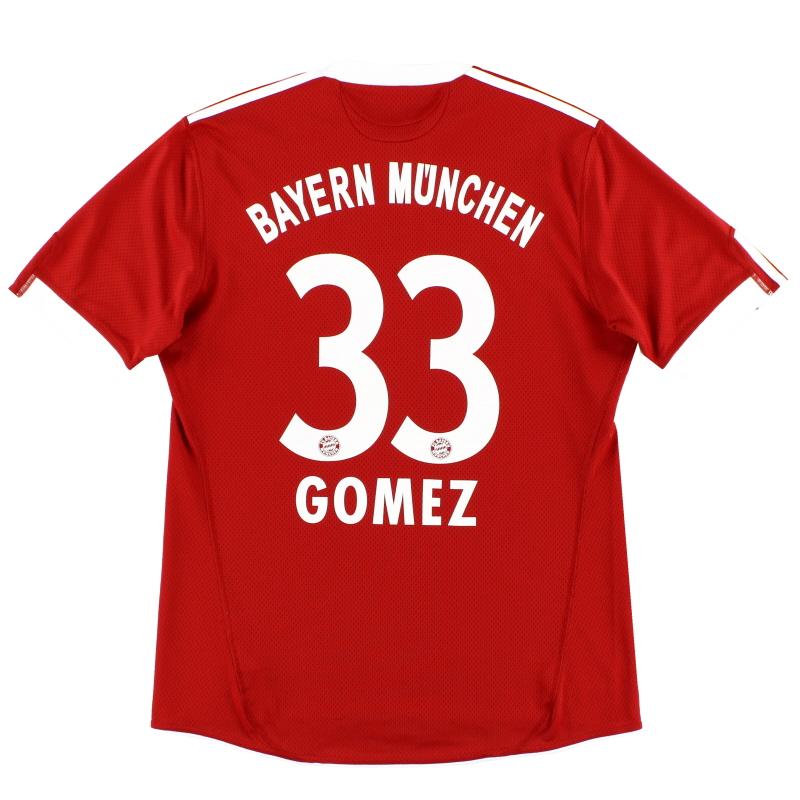 2009-10 Bayern Munich Home Shirt Gomez #33 M - E84214