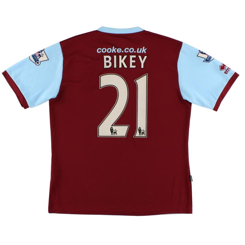 2009-10 Burnley Errea Home Shirt Bikey #21 XL