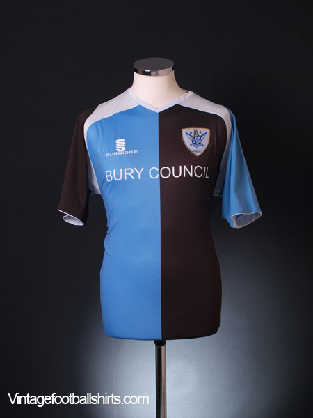 2009-10 Bury Home Shirt '125 Years' S