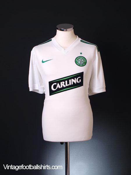 2009-10 Celtic European Away Shirt *Mint* L