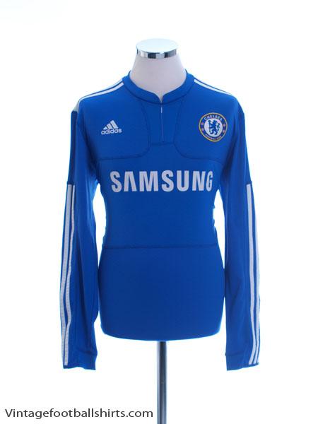 2009-10 Chelsea Home Shirt L/S M - E84290