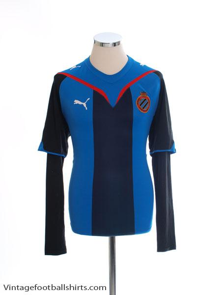 2009-10 Club Brugge Home Shirt L/S L - 735856