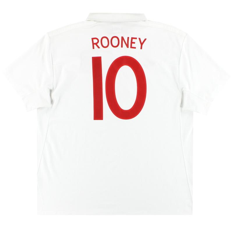 2009-10 England Umbro Home Shirt Rooney #10 XXL