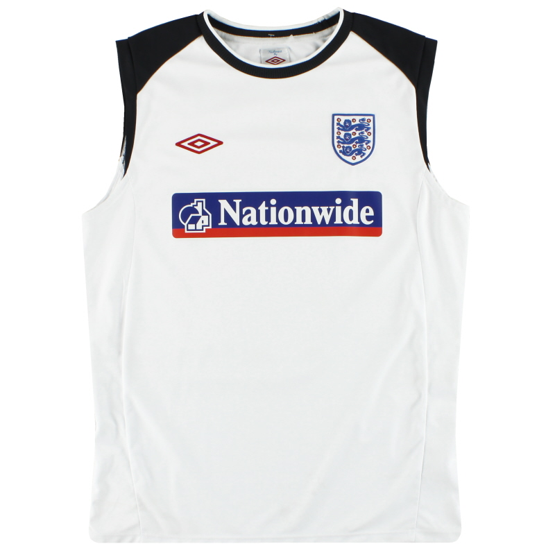 2009-10 England Umbro Training Vest L