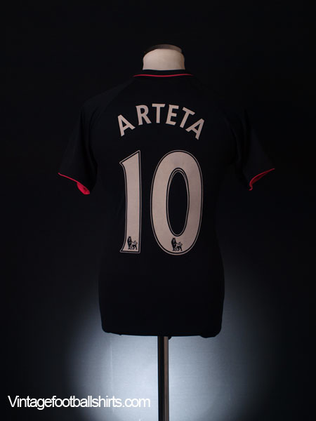 2009-10 Everton Away Shirt Arteta #10 S