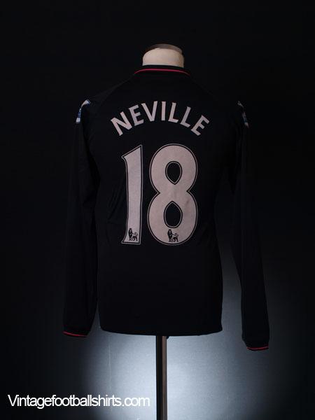 2009-10 Everton Away Shirt Neville #18 L/S M