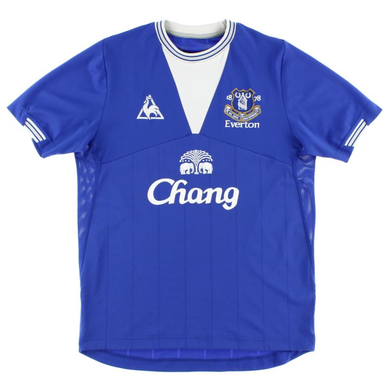 2009-10 Everton Le Coq Sportif Home Shirt S - LKX14707