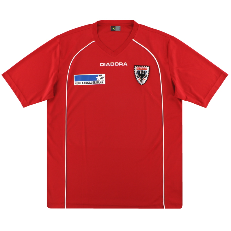 2009-10 FC Aarau Diadora Training Shirt XL