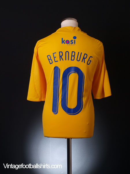 2009-10 FC Brondby Home Shirt Bernburg #10 *Mint* XL