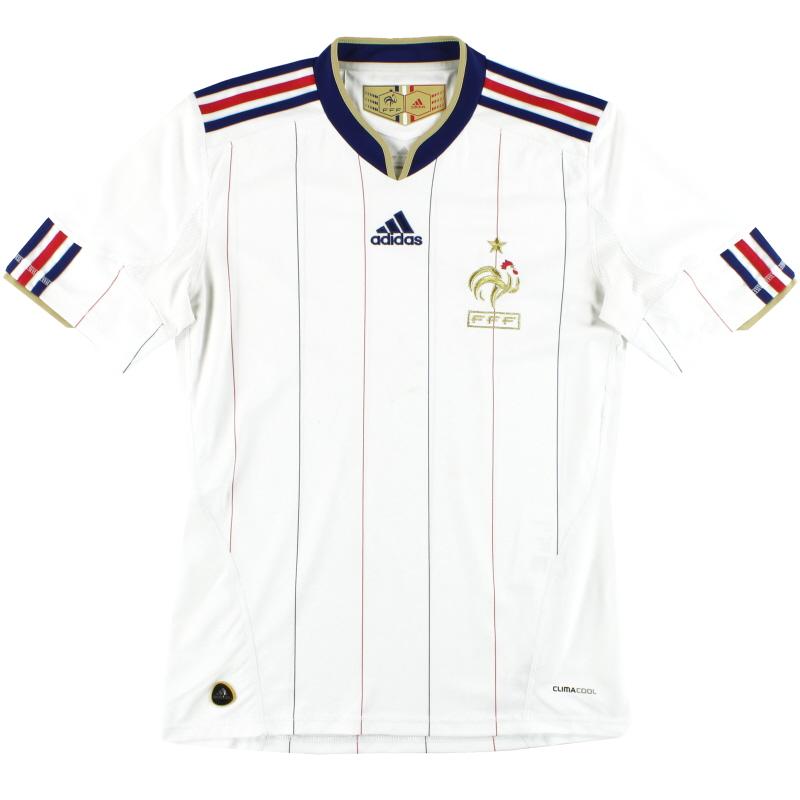 2009-10 France adidas Away Shirt S - P41193