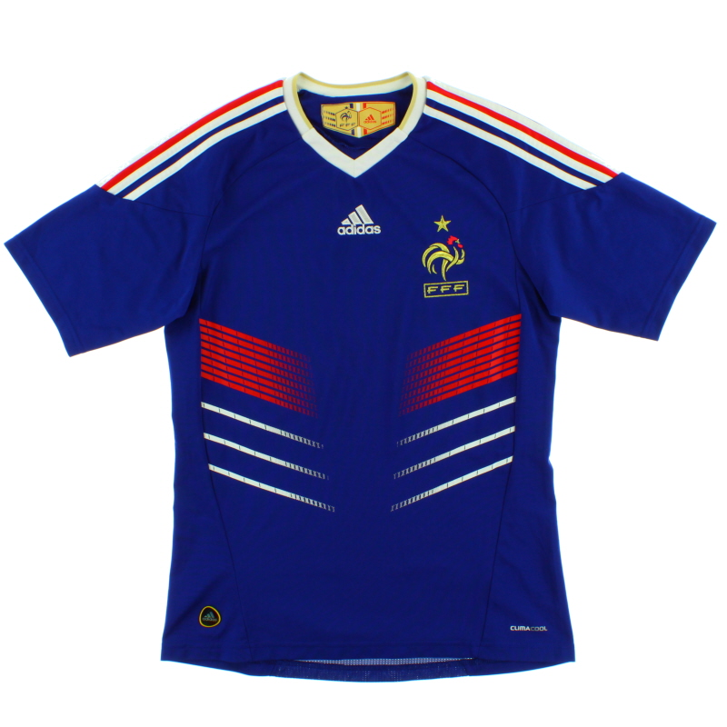 2009-10 France Home Shirt *Mint* S - P41040