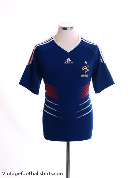 2009-10 France Home Shirt *Mint* M