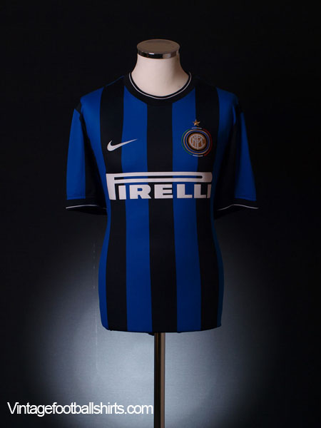 info for 50c89 38ef4 2009-10 Inter Milan Home Shirt *Mint* S for sale
