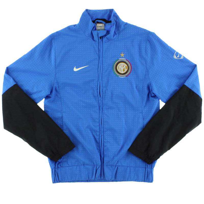 2009-10 Inter Milan Nike Woven Warm-Up Jacket S - 354279-486