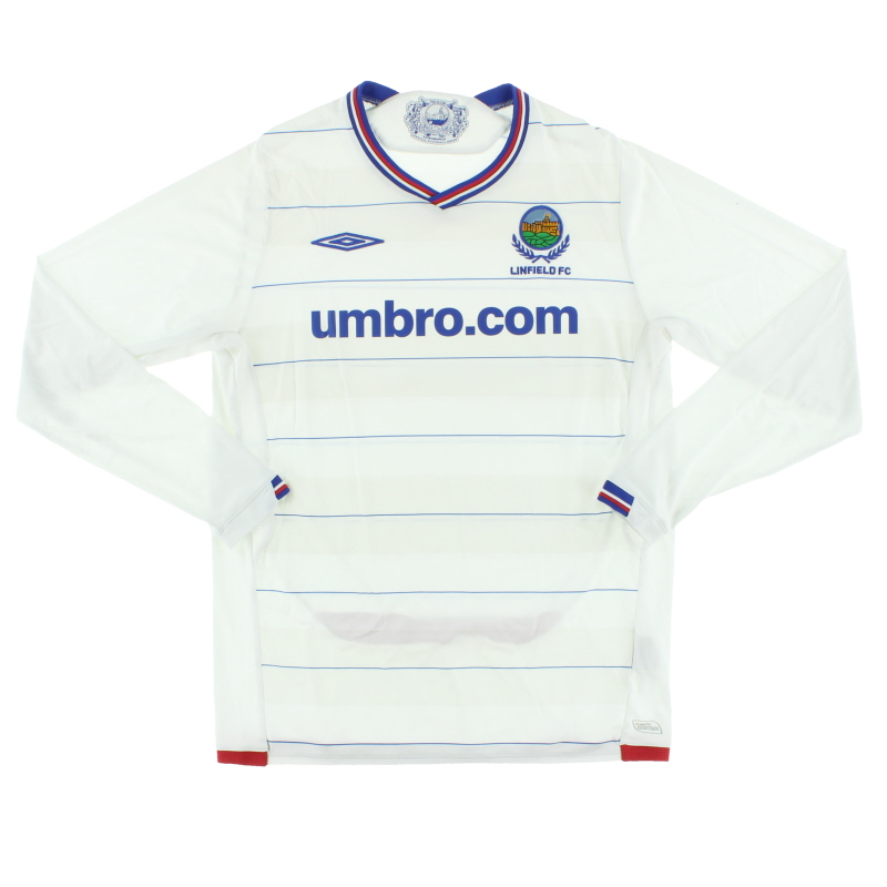 2009-10 Linfield Away Shirt L/S M