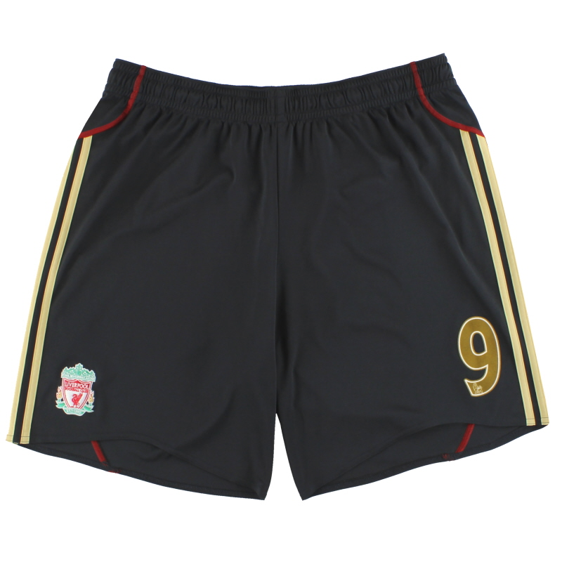 2009-10 Liverpool adidas Away Shorts #9 *Mint* XXL - E85310
