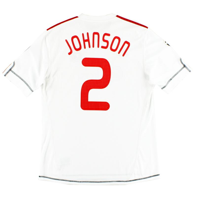 2009-10 Liverpool CL Third Shirt Johnson #2 L - P06230