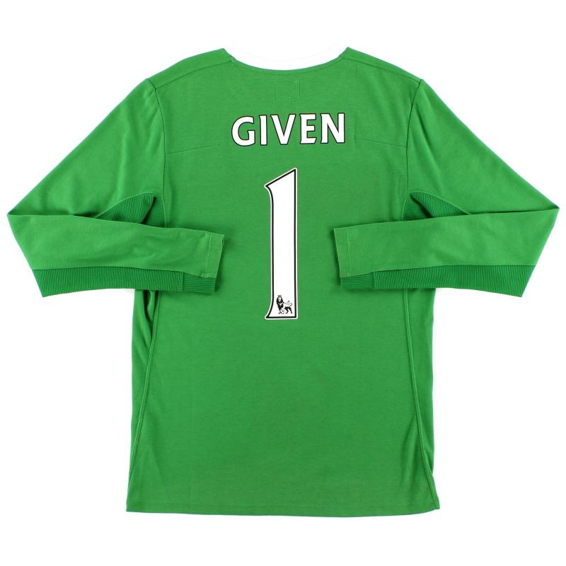 2009-10 Manchester City Goalkeeper Shirt Given #1 S
