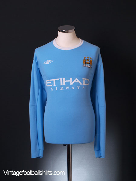 2009-10 Manchester City Home Shirt L/S XXL