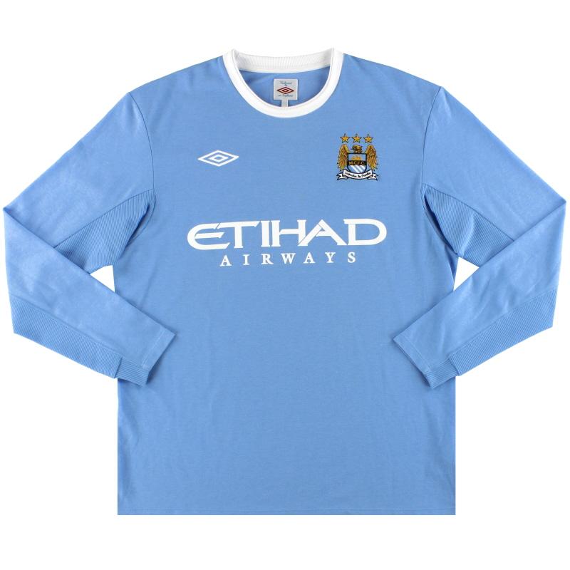 2009-10 Manchester City Umbro Home Shirt *Mint* L/S L