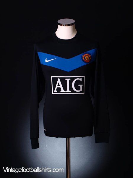 2009-10 Manchester United Away Shirt L/S M