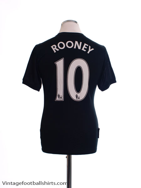 2009-10 Manchester United Away Shirt Rooney #10 XL.Boys