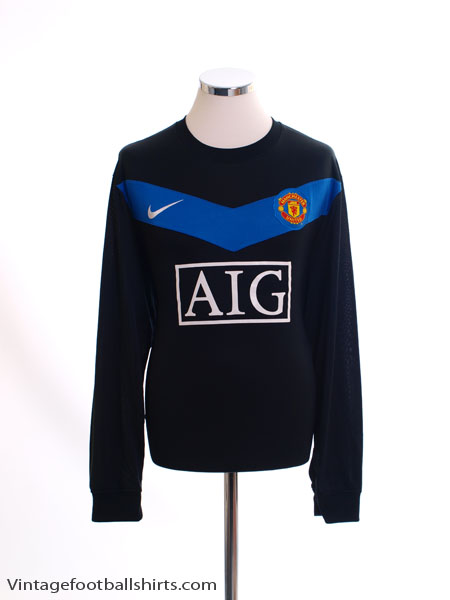 2009-10 Manchester United Away Shirt L/S XL
