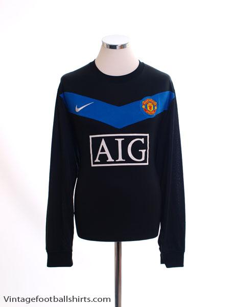 2009-10 Manchester United Away Shirt L/S *Mint* XL