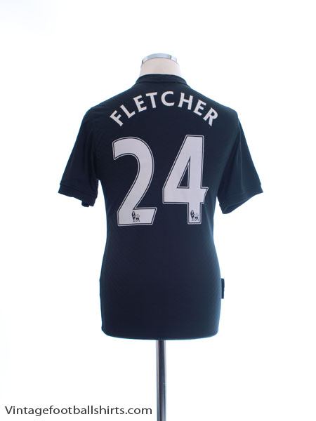 2009-10 Manchester United Away Shirt Fletcher #24 S - 355093-010