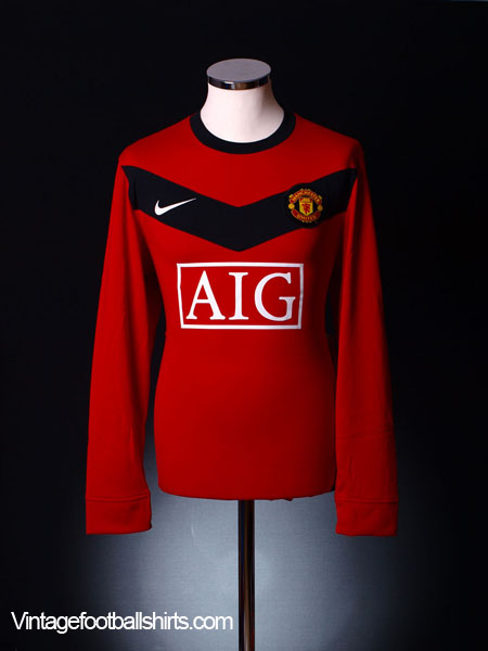 2009-10 Manchester United Home Shirt L/S M.Boys