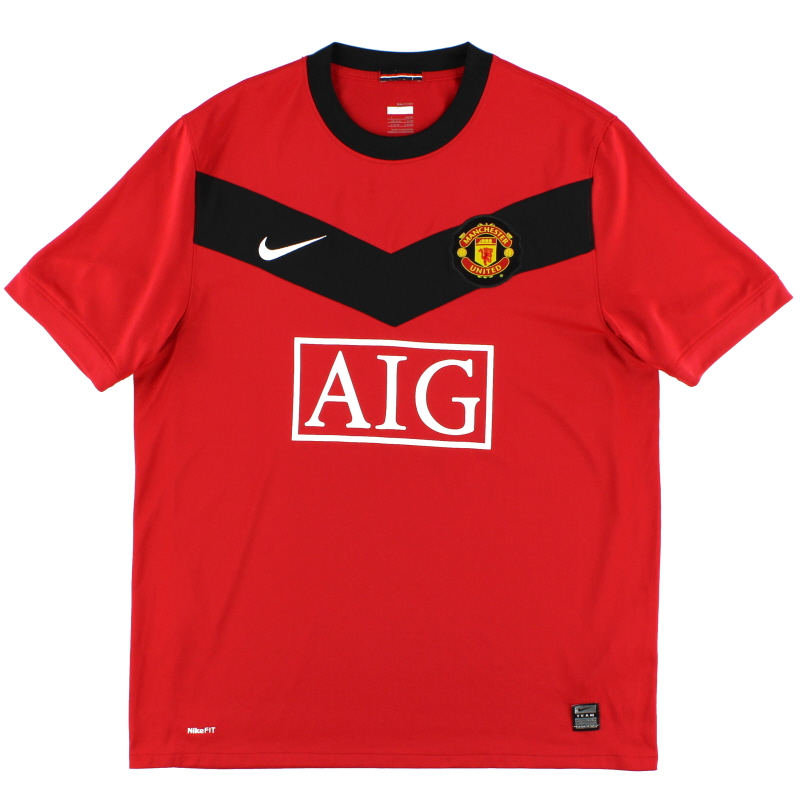2009-10 Manchester United Home Shirt *Mint* XL