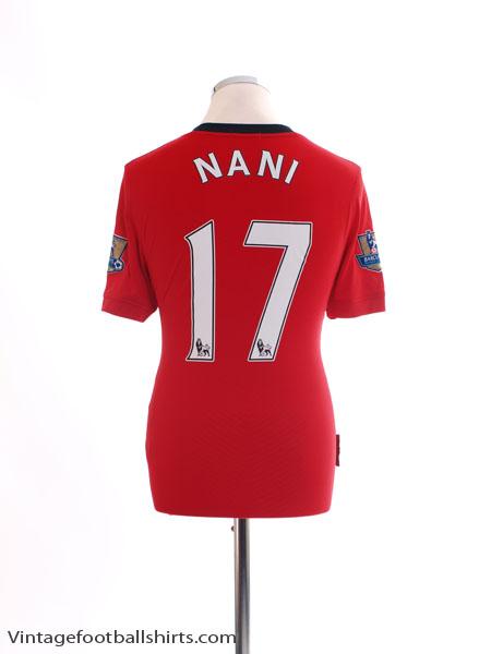 2009-10 Manchester United Home Shirt Nani #17 S
