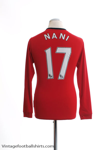 2009-10 Manchester United Home Shirt Nani #17 L/S XL.Boys