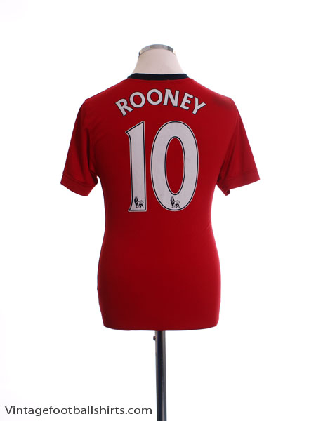 2009-10 Manchester United Home Shirt Rooney #10 M - 355091-623