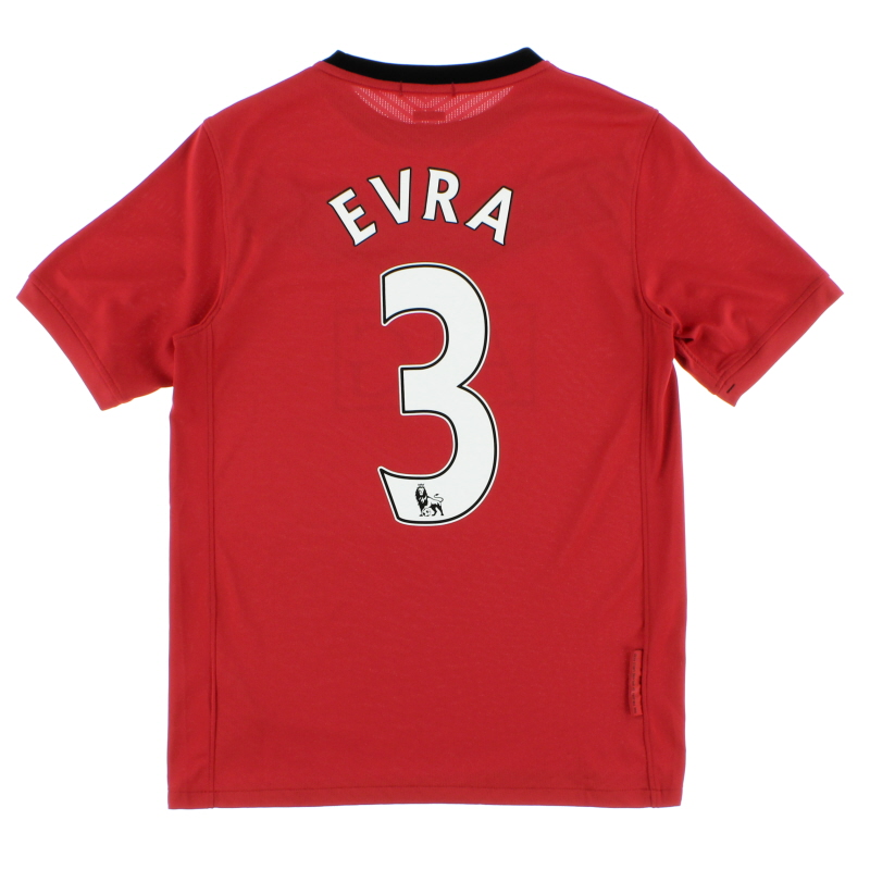 2009-10 Manchester United Home Shirt Evra #3 *Mint* L.Boys - 355110-623
