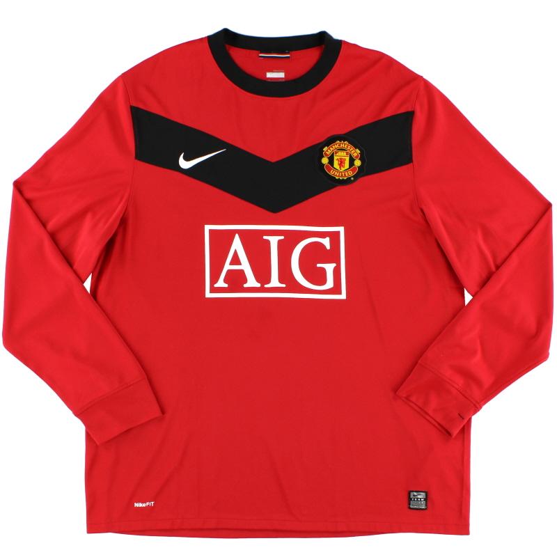 2009-10 Manchester United Home Shirt L/S *Mint* L - 355092-623