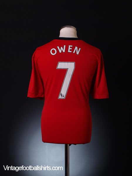 2009-10 Manchester United Home Shirt Owen #7 XL