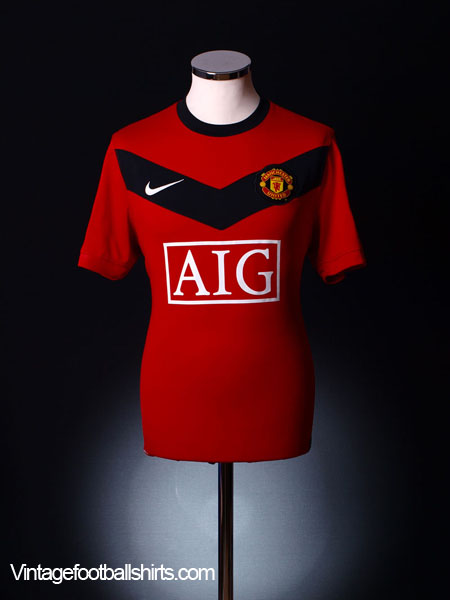 2009-10 Manchester United Home Shirt S
