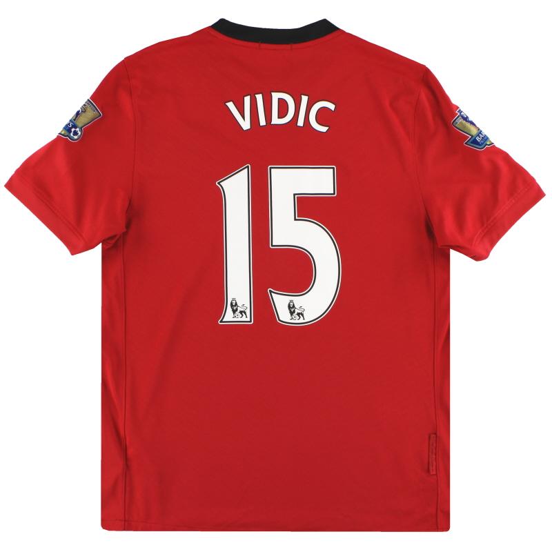 2009-10 Manchester United Nike Home Shirt Vidic #15 *Mint* M - 355091-623